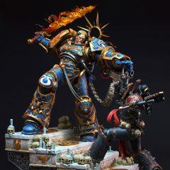 Guilliman vs Chaos Space Marine Diorama