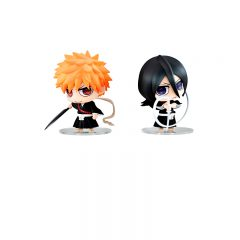 Chimi Mega Buddy Series ! No.005 Ichigo Kurosaki & Rukia Kuchiki Death God Set